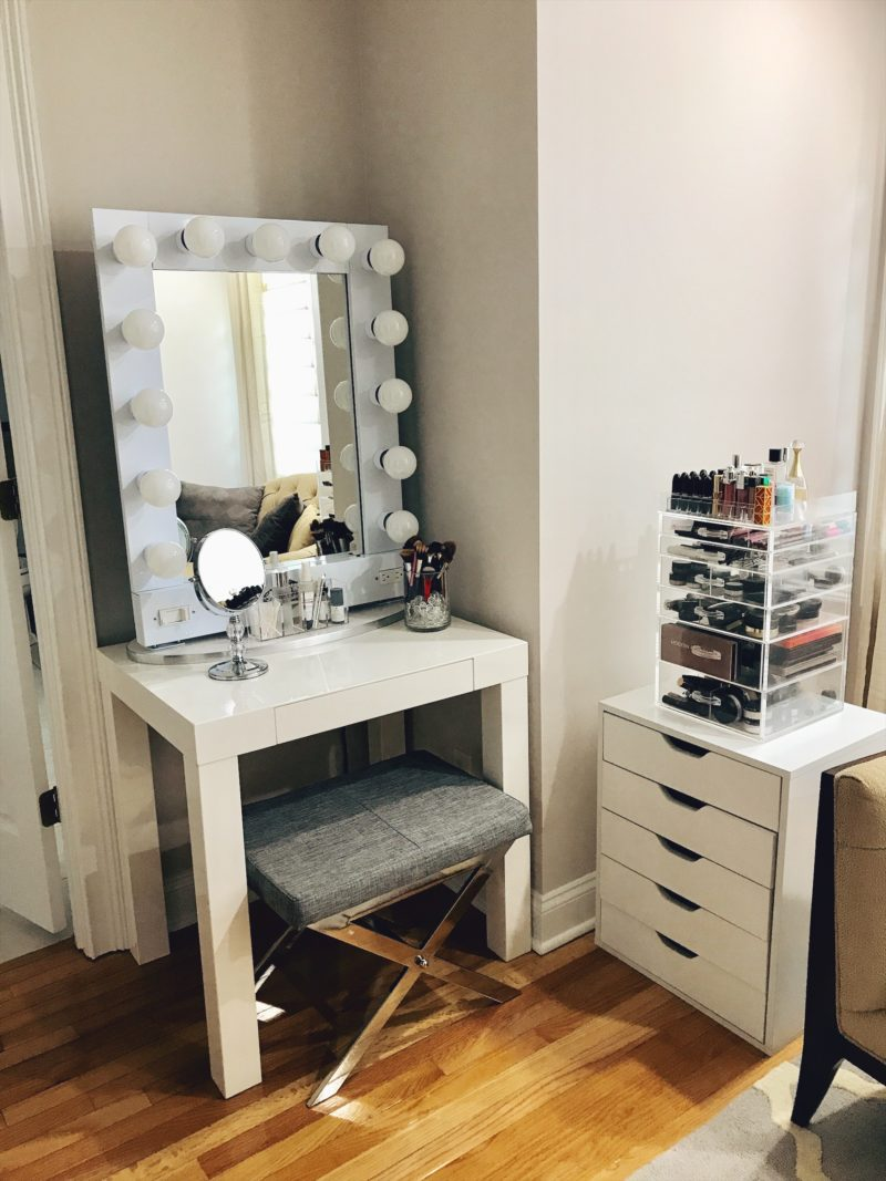 vanity makeup organization storage